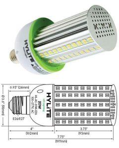 HL-AC-20W-E26-50K Hylite 20W Led 5000K 2800 Lumens 120V-277V