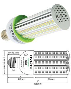 HL-AC-30W-E39-50K Hylite 30W Led 5000K 4200 Lumens 120V-277V